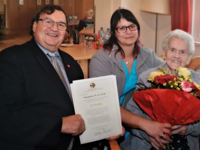 95. Geburtstag Frau Walter