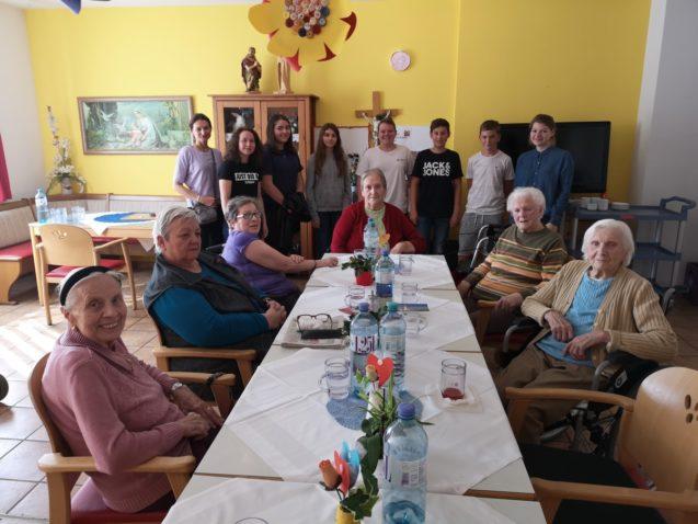 Projekt mit der Firmgruppe  der Pfarre St. Pölten- Pottenbrunn