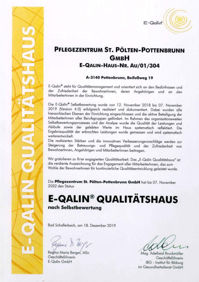 E-Qalin® Rezertifizierung